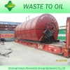 2012 latest design, tire pyrolysis oil distillation plant