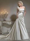 New Arrival 2012 Best Price Satin One-Shoulder A-Line Wedding Dresses Bridal MS-002