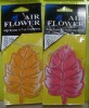 leaves shape paper air freshener
