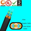 4-fiber Parallel 3G used Far Transmission optical Cable