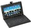 Black Keyboard Case for 10'' Tablet PC USB Leather Case