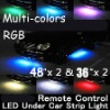 "Brand New WIRELESS REMOTE Multi-Color Under Car LED Glow Neon Light Kit (2*36""+2*48"") RGB"