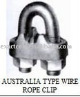 AUSTRALIA TYPE HOTDIP MALLEABLE WIRE ROPE CLIPS