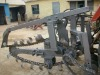 Chain trencher with teeth made of nodular cast iron base with silver brazing cemented carbide tip for hard soil with stone