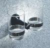 Bathroom double glass holder