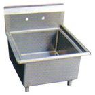 industrial square deep stainless steel soak sink