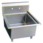 industrial square deep stainless steel soak sink