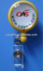 badge reel keychain holder