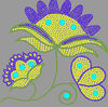 Flower designs hot fix motif for clothing