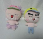 cartoon shape cute funny stuffed plush boy with girl doll toy