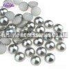 High Quality ABS/Plastic Half Pearl Beads (Silver Grey)