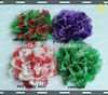 "3.75""colorful chiffon lace flower in stock"