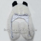 one piece plush animal hat scarf glove