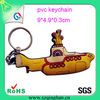 Fashion Wholesale 3d Pvc Boat Keychain