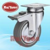35xxxTPRB 60mm,80mm,100mm,125mm European type indoor Thermoplastic rubber wheel double/total brake caster