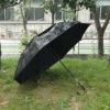 Black Color Double Layer POE Rain Umbrella