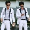 white color gentle business man suit