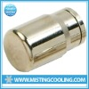 High pressure misting system-slip lock end plug