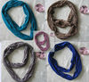 Fashion polyester cheap knitted scarf
