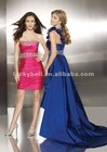 One-Shoulder Detachable Royal Blue Vestido de fiesta
