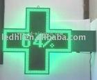 LED pharmacy cross/led green cross sign/outdoor cross display (100 green)