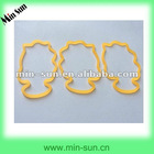 Popular Fashion Elastic Shaped Silicone Band