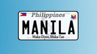 Philippines Number Plate/ Philippines licesne plate