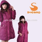 padded parka coat for ladies 2012