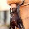 Ladies leather warm winter sheepskin gloves