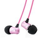 Fashionable metal earbud earphones with high tone quality for Samsung, MP4 player, iPhone