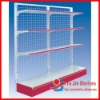Single side Supermarket Shelf with Mesh Backboard,Wire Mesh Store Rack