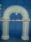 White nylon inflatable arch for holiday or christmas sales