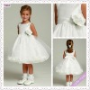 3036-1hs Lovely Fairy Tea Length Big Bowknot Back brown flower girl dress