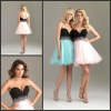 RSD119 Romantic sweetheart neckline strapless crystals beaded organza Cocktail dresses