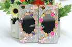 Beautiful Bling 3D Flower Diamond Mirror Case for iPhone 5
