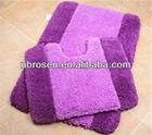 2pcs set morden design anti-slip washable and shaggy bathroom carpets ttles