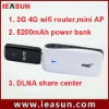 WCDMA/EVDO/TD-SCDMA 3g wifi hotspot with power bank
