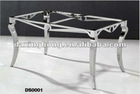 stainless steel table frame for glass dining table
