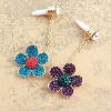 Cute rhinestone flower mobile Phone dustproof plug