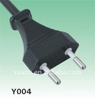 Switzerland style 2 pin power cord plug Y004