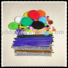 provide children diy products---chenille wire or pipe cleaners &pompoms