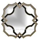 decorative modern irregular resin hanging framed wall mirror