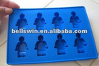 Food Silicone Minifigure Ice Cube Tray Chocolate Mold Party Use