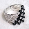 Fancy Rhinestone Bangle Bracelet/ Wristlet