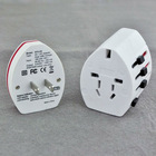 Dual USB US UK AU EU Universal Travel Adapter AC Power Plug All In One white color