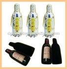 leather covered bottle case/bag