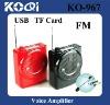 Mini loudspeaker with USB FM Radio TF Card Function
