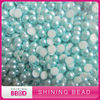 half round plastic pearls