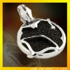 stylish round black 925 silver jewelry pendant paypal