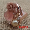fashion large stone rings settings yellow gold only